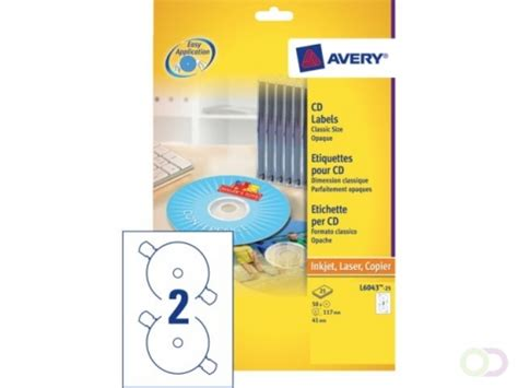 Etiket Avery L6043100 CD wit 200stuks online kopen
