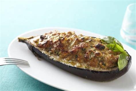 recette cuisine aubergine recette de aubergines farcies au basilic facile et rapide
