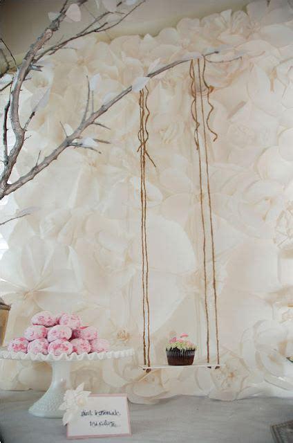 Diy Easy Backdrop by Paper Wedding Easy Diy Paper Backdrops