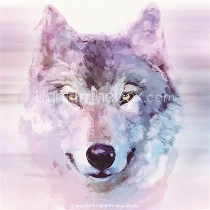 Lightinthebox Watercolor Wolf