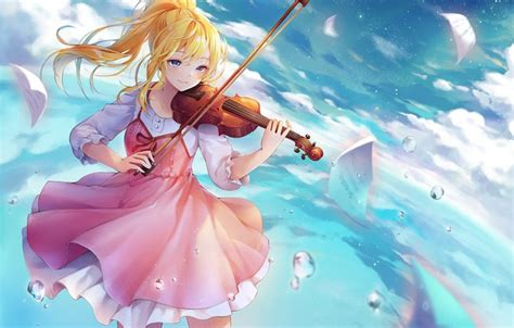 Anime Violin Wallpaper - wallpaper look violin anime shigatsu wa kimi no