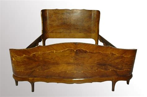 vintage furniture me 14543a beautiful antique burl walnut stylish bed 6801