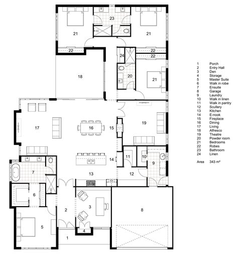 floor plan friday classic hamptons single storey home