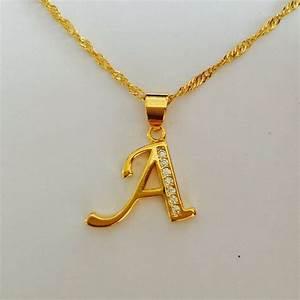 Online get cheap l n j aliexpresscom alibaba group for Letter c gold pendant