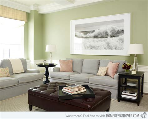 Green And Grey Living Room Walls by 15 Lovely Grey And Green Living Rooms Fox Home Design