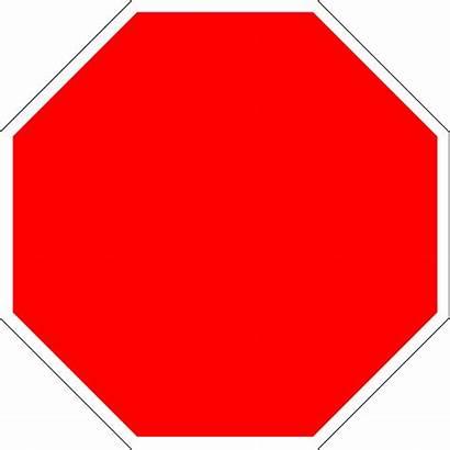 Stop Sign Symbols Clip Blank Octagon Transparent