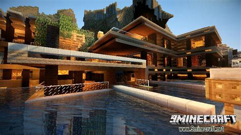 luxurious cove house map   minecraft