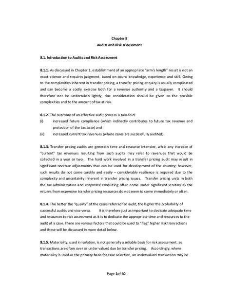 transfer pricing agreement template transfer pricing practical manual for developing countries chapter