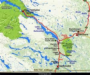 Arctic Circle Sweden Map