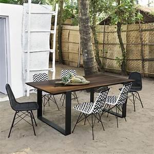 Chaise De Jardin En Resine : chaise de jardin en acier et r sine tress e noire beckett ~ Farleysfitness.com Idées de Décoration