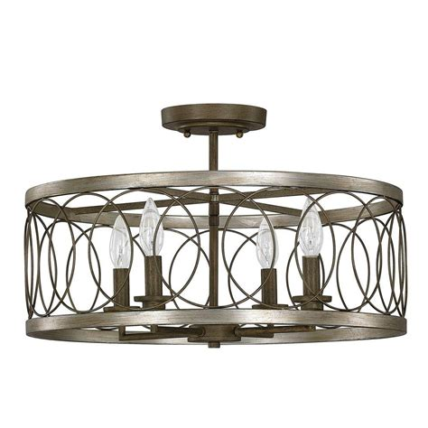 semi flush mount lights allen co 4 light bronze semi flush mount light