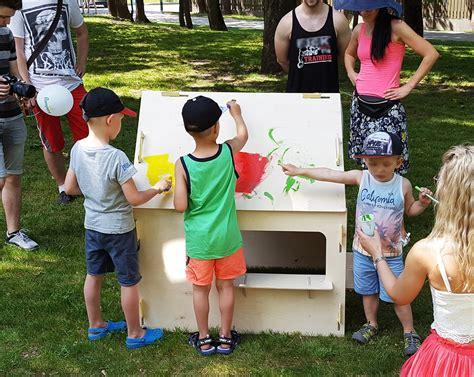 Krāsojamā koka rotaļu mājiņa bērniem (1,5-4 g.) » Pro ...