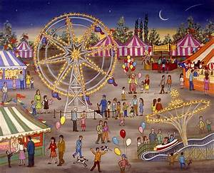 Ferris Wheel At The Carnival Painting by Linda Mears