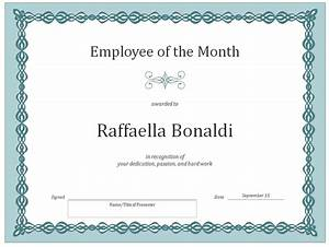 Employee Certificate Templates Free Employee Of The Month Certificate Template Certificate Templates