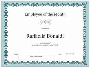 Employee Certificate Templates Free Employee Of The Month Certificate Template Certificate Templates