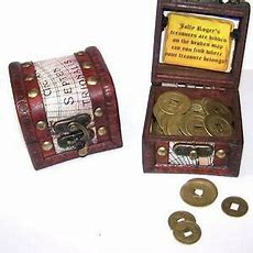 Coin Filled Pirates Treasure Chest Kids Novelty Pirate Chests Metal Coins New Ebay