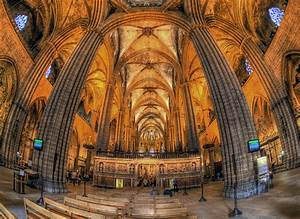 Inside the Gothic Cathedral in Barcelona   Flickr - Photo ...