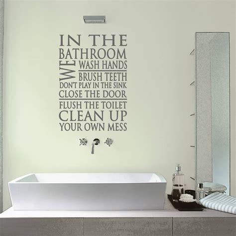 bathroom word block wall sticker by mirrorin notonthehighstreet com