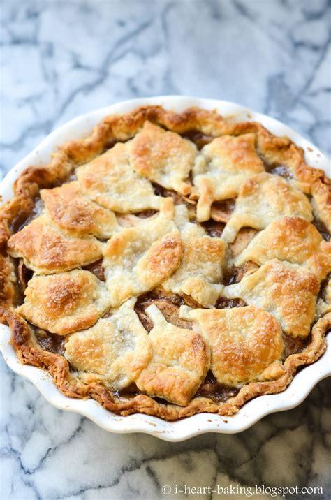 heart baking fall leaf cutout apple pie
