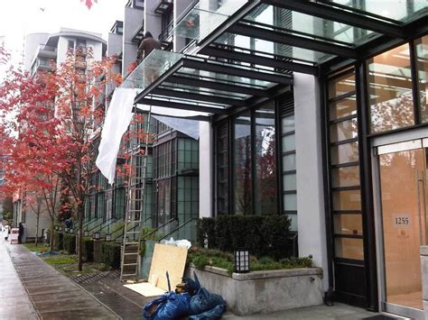 Glass Awning Residential - glass canopy vancouver repair replace installation