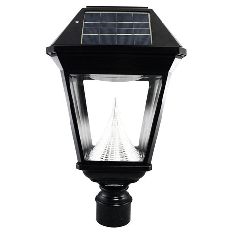 solar led outdoor l post gama sonic imperial ii solar black outdoor integrated led