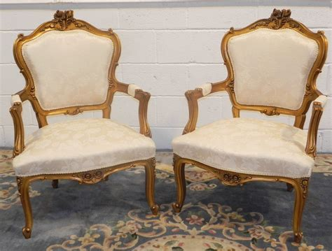 Pair Of Restored Antique 19thc Arm Chairs Louis Xv