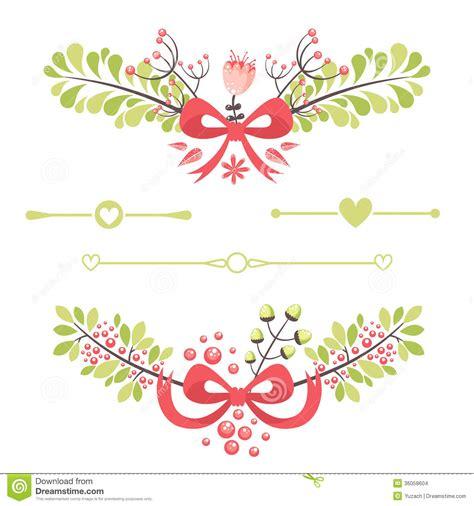 elegant floral decorative elements  celebration cards