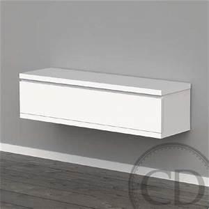 Console Murale Suspendue : meuble tv suspendu laqu blanc design achat vente ~ Premium-room.com Idées de Décoration