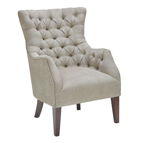 park button tufted wing chair ebay