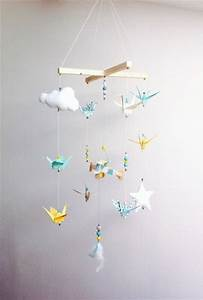 Mobile Bébé Bois : relooking et d coration 2017 2018 mobile b b origami bois vintage par creamaga sur etsy ~ Teatrodelosmanantiales.com Idées de Décoration