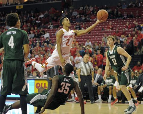 maryland terps mens basketball routs wagner seahawks