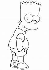 Coloring Simpsons Cartoon Printable Drawings Bart Simpson Bestcoloringpagesforkids sketch template