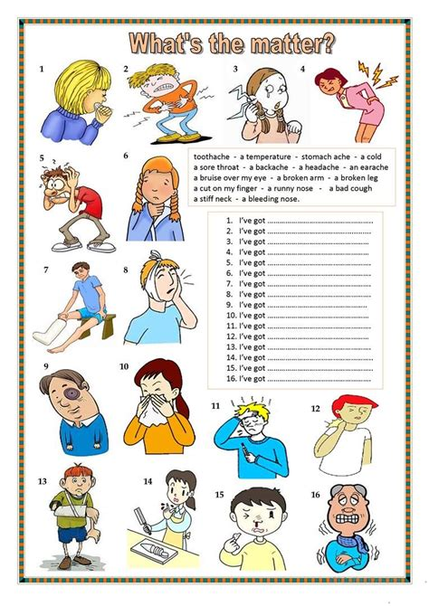 what s the matter worksheet free esl printable