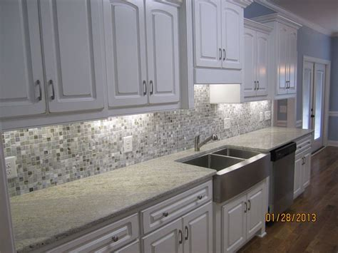 image result for cabinets grey glass backsplash grey