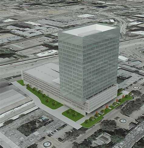 story office tower  headed   west loops