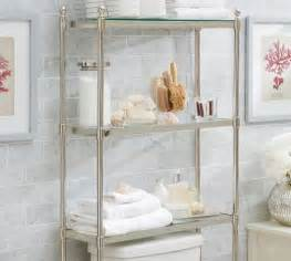 metal over the toilet etagere pottery barn