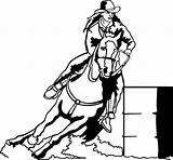 Barrel Racing Horses Horse Coloring Pages Silhouette Race Decals Rodeo Western Barrels Yahoo Drawing Rider Stencil Trailers Explore Events Windows sketch template