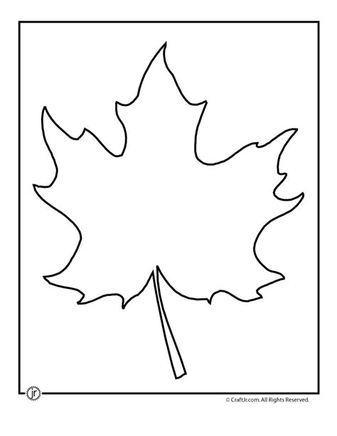 Leaf Template Template Of Leaves Coloring Home