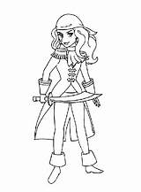 Coloring Pages Pirate Pirates Pdf Drawn Hand Printables sketch template