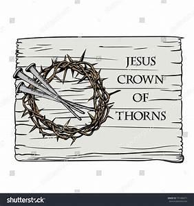 Crown Thorns Nails Jesus Christ Symbols Stock Vector ...