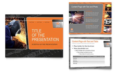 manufacturing engineering powerpoint  template