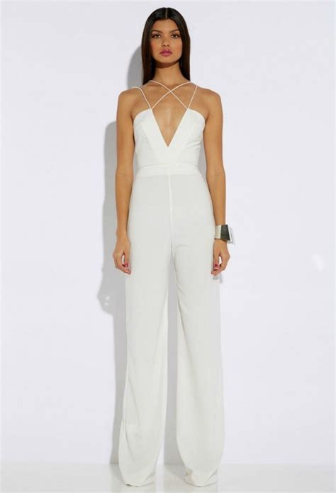 all white jumpsuit for rehearsal dinner fashion dressy jumpsuit bajan wed