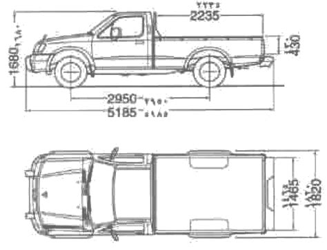 Nissan Frontier Bed Dimensions by Car Blueprints Nissan Up 4x4 Bed Blueprints