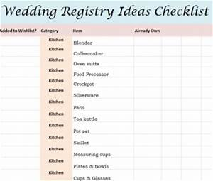 wedding registry ideas checklist With wedding gift registry list