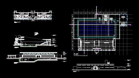 swimming pool dwg plan  autocad designs cad