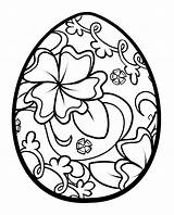 Easter Coloring Pages Egg Flourish sketch template