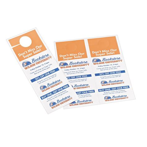 Avery Laser Inkjet Tear Away Cards Door Hanger Ave16150 Avery Door Hanger Tick Avery Pk 80 31038 00 16150