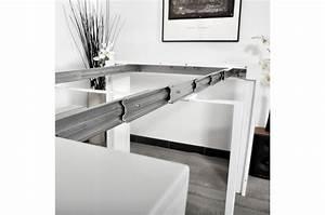 Console Blanche Pas Cher : table console blanche laqu e 3 rallonges carla table ~ Dailycaller-alerts.com Idées de Décoration