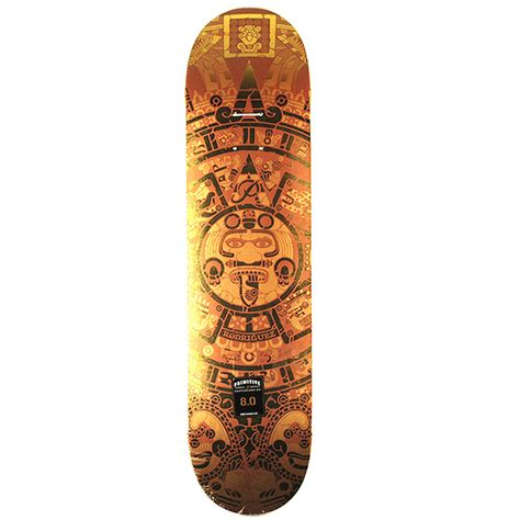 True Skate Primitive Decks by Primitive Rodriguez Aztec Gold Deck 8 0 Forty Two