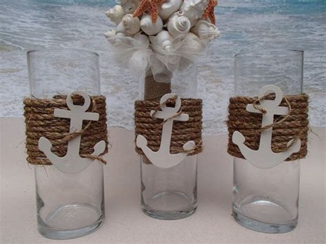 the nautical vases are wrapped in premium natural fiber